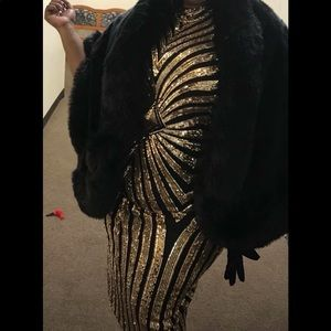 Dresses & Skirts - Plus Size  Black & Gold Sequence Dress